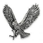 Sterling Silver Antiqued & Textured Eagle Chain Slide