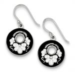 Sterling Silver Rhodium Plated Stellux Crystal Circle Earrings