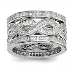 Sterling Silver & CZ 3 Piece Brilliant Embers Ring Set