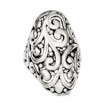 Sterling Silver Antiqued Filigree Ring