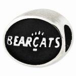 Sterling Silver Antiqued University of Cincinnati Collegiate Bead
