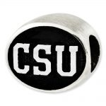 Sterling Silver Antiqued Colorado State University Collegiate Bead
