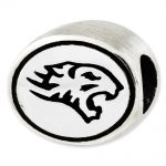 Sterling Silver Antiqued Towson University Collegiate Bead