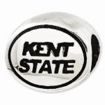 Sterling Silver Antiqued Kent State University Collegiate Bead