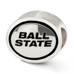 Sterling Silver Antiqued Ball State University Collegiate Bead