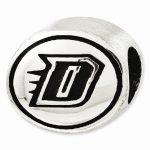Sterling Silver Antiqued DePaul University Collegiate Bead