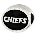 Sterling Silver Enameled Kansas City Chiefs NFL Bead