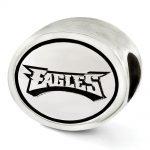 Sterling Silver Antiqued Philadelphia Eagles NFL Bead
