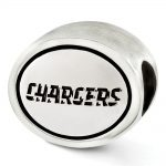 Sterling Silver Antiqued San Diego Chargers NFL Bead