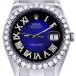 Rolex Datejust II Watch / 41 MM / Custom Blue/Black Roman Dial / Oyster Band