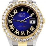 Rolex Datejust II Watch / 41 MM / 18K Yellow Gold & Stainless Steel / Custom Blue/Black Roman Dial / Oyster Band