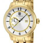 S. Coifman Swiss Movement Quartz Watch – Gold case with Gold tone Stainless Steel band – Model SC0198