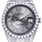 Rolex Datejust II Watch / 41 MM / Custom Silver Roman Dial / Oyster Band
