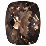 Loose Smoky Quartz Gemstone 5x3mm Cushion Checkerboard AA Quality