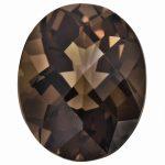 Loose Smoky Quartz Gemstone 7x5mm Oval Checkerboard AA Quality