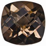 Loose Smoky Quartz Gemstone 6mm Cushion Checkerboard AA Quality