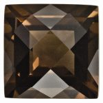 Loose Smoky Quartz Gemstone 5mm Square Checkerboard AA Quality