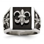 Men's Stainless Steel Fleur de lis Ring