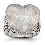 Stainless Steel Matte Heart Ring