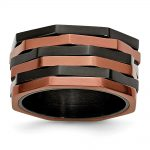 Stainless Steel Black & Chocolate IP-plated Ring