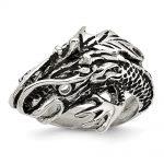 Men's Stainless Steel Antiqued Dragon Ring