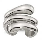 Stainless Steel Polished Wrapped Ring