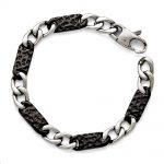 Stainless Steel Polished Black IP-plated Link Bracelet