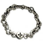 Stainless Steel Polished Magnetic Clasp 8.5in Bracelet