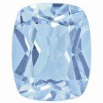 Loose Topaz Gemstone Ice Blue 8x6mm Cushion