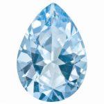 Loose Topaz Gemstone Ice Blue 6x4mm Pear