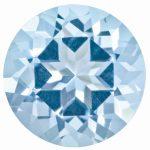 Loose Topaz Gemstone Ice Blue 4mm Round Natural Brilliance