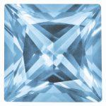 Loose Topaz Gemstone Ice Blue 4mm Princess