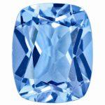 Loose Topaz Gemstone Kashmir Blue 8x6mm Cushion
