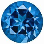 Loose Topaz Gemstone Kashmir Blue 4mm Round Natural Brilliance