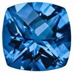 Loose Topaz Gemstone Kashmir Blue 6mm Cushion Checkerboard