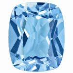 Loose Topaz Gemstone Paraiba Blue 8x6mm Cushion