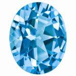 Loose Topaz Gemstone Paraiba Blue 6x4mm Oval