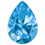 Loose Topaz Gemstone Paraiba Blue 9x6mm Pear