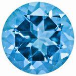 Loose Topaz Gemstone Paraiba Blue 2mm Round Natural Brilliance