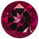 Loose Topaz Gemstone Blazing Red 2mm Round Natural Brilliance