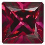 Loose Topaz Gemstone Blazing Red 6mm Princess