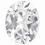 Loose Topaz Gemstone White 8x6mm Oval