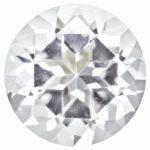 Loose Topaz Gemstone White 6mm Round Star