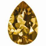 Loose Whiskey Quartz Gemstone 8x6mm Pear AA Quality