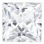 Loose White Topaz Gemstone 6mm Princess AA Quality