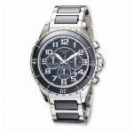Mens Charles Hubert Stnlss Stl/Ceramic Blk Dial Chronograph Watch