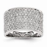 14k White Gold Diamond Fancy Ring
